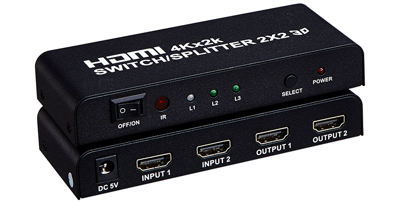 4K 2K HDMI Splitter 2 to 2 Featured Image
