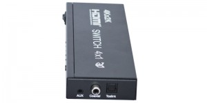 4Kx2K HDMI switch 4 in 1 out with audio